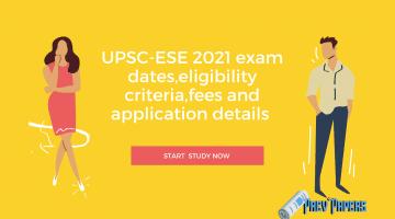 UPSC-ESE 2021 exam dates