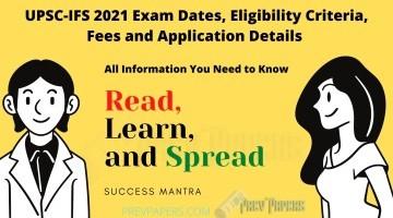UPSC IFS Exam dates