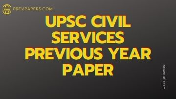 UPSC previous year paper